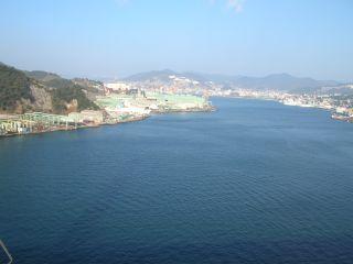 女神大橋から見た長崎港